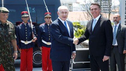 Jair Bolsonaro recibe a Benjamín Netanyahu (Reuters)