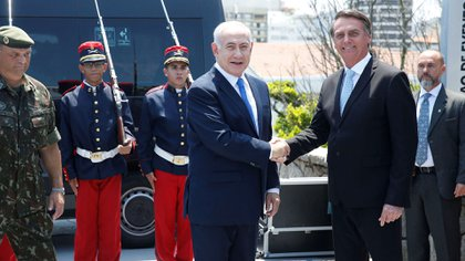 Jair Bolsonaro recibe a Benjamin Netanyahu en Río de Janeiro(Reuters)