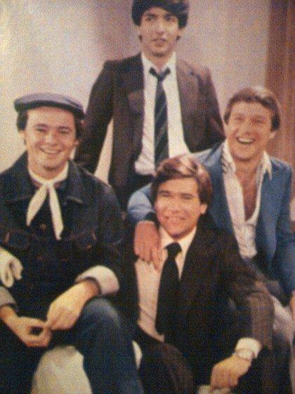 Con Ricardo Darín, Pablo Codevilla y Germán Krauss, en 1980