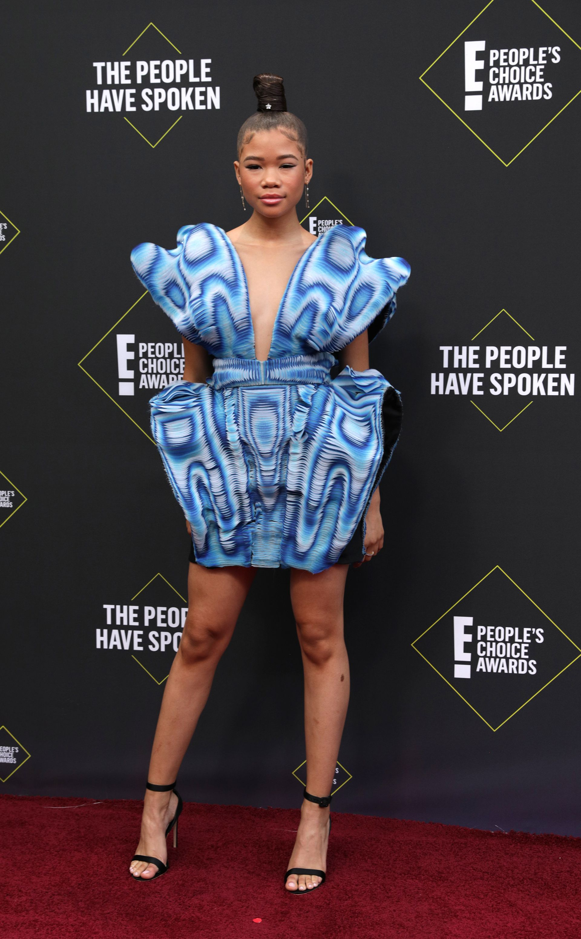 "Storm Reid de la exitosa serie ""Euphoria"" de HBO en los People's Choice Awards 2019"