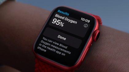 Apple Watch 6 mide nivel de saturación de oxígeno en sangre