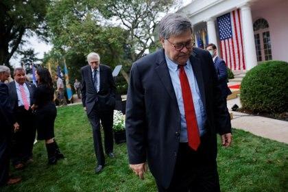 William Barr en la Casa Blanca, en Washington. REUTERS/Carlos Barria