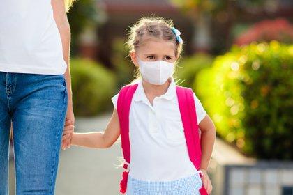 Un especialista en enfermedades infecciosas y miembro del Grupo Asesor Científico del Reino Unido dijo que existen mejores estrategias para controlar el virus en las escuelas que el uso de tapabocas en niños (Shutterstock)