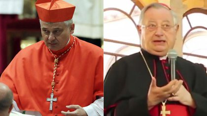 Konrad Krajewski y Giuseppe Bertello