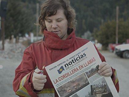 El primer diario ignífugo en Argentina (Crédito: Agencia Hoy Bue)