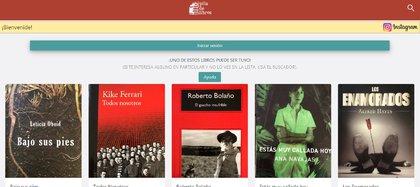 La web de Pila de Libros