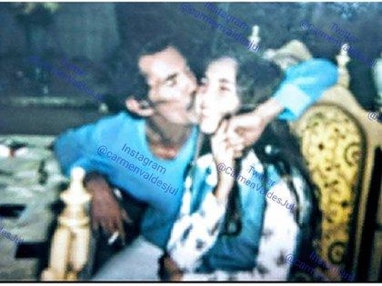 La imagen con la que Carmen Valdés recordó a su fallecido padre (Foto: Instagram)