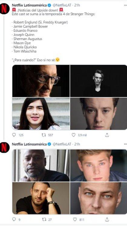 (Foto: Twitter de Netflix)