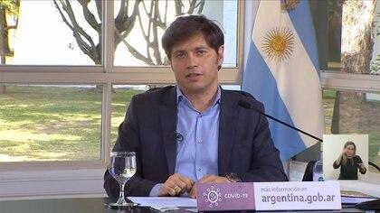 Axel Kicillof, gobernador de la Provincia de Buenos Aires (Captura de video)