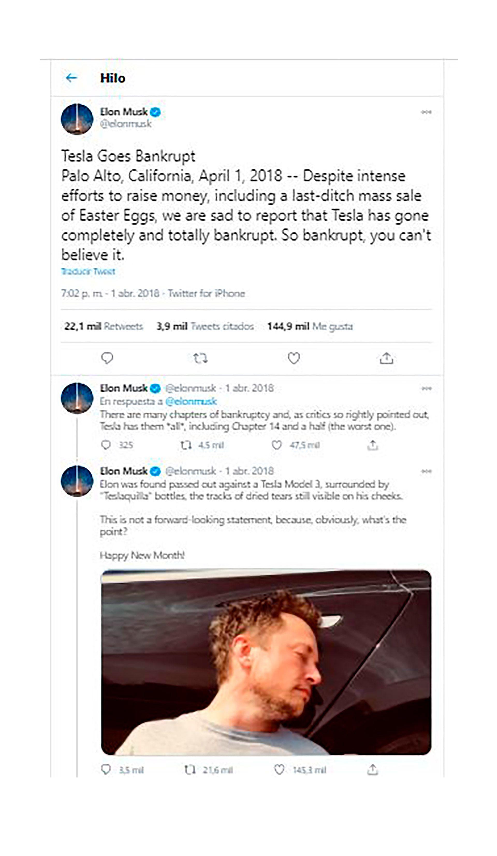 Tesla Tequila Elon Musk Tuit