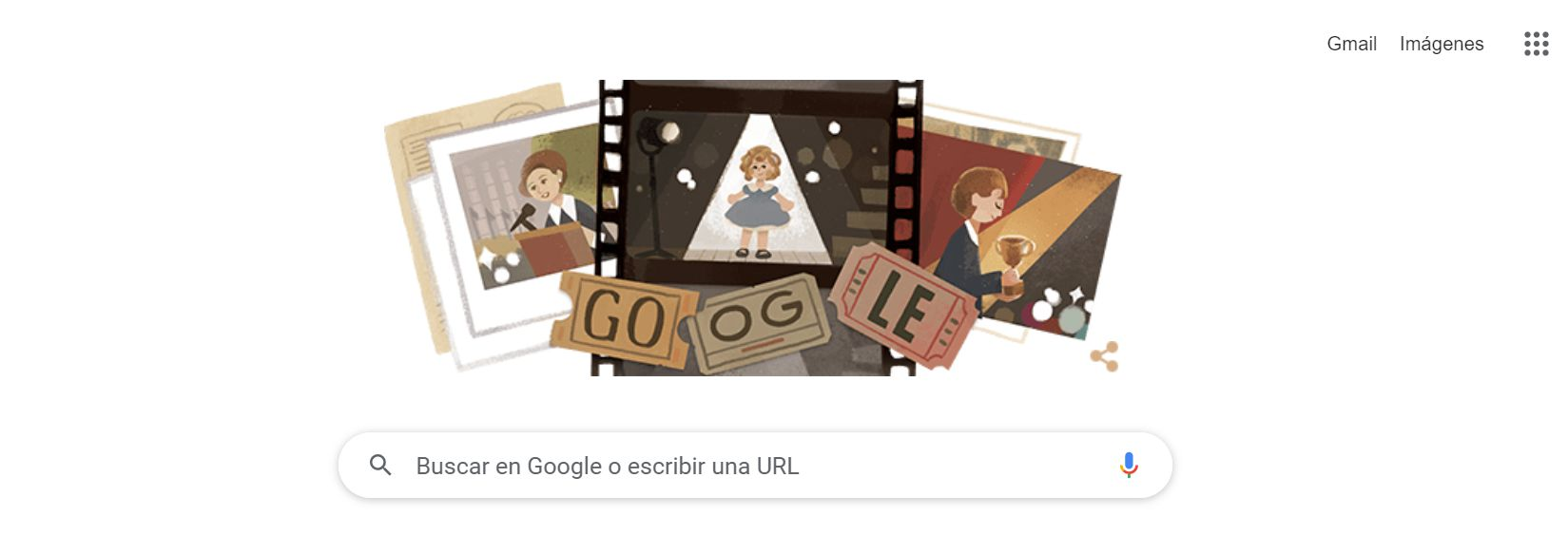 Google doodle Shirley Temple