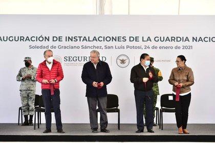 El mandatario se muestra en los eventos y reuniones sin cubrebocas, incluidas las giras que realizó en los últimos días (Foto: Gobierno de México)