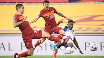 Con Duván Zapata y Luis Muriel en cancha, Atalanta se llevó un punto tras su visita a Roma y ahora es tercero en la Serie A