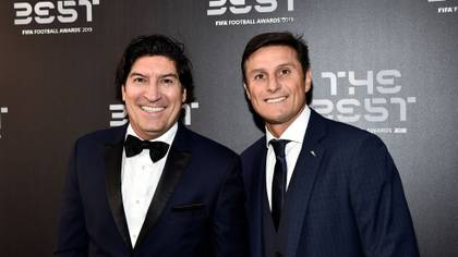 Iván Zamorano y Javier Zanetti fueron compañeros en el Inter de Milán (Reuters)