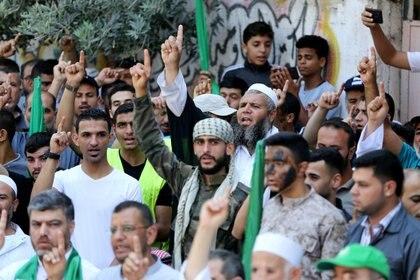 El grupo palestino Hamas en la Franja de Gaza REUTERS/Ibraheem Abu Mustafa