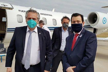 Pocas semanas atrás recibió al presidente Alberto Fernández en la provincia (@GZamoraSDE)