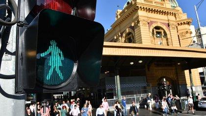 Uno de los semáforos se encuentraen uno de los cruces con más transito peatonal de la ciudad (AFP)