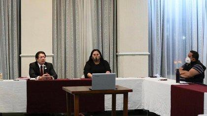 Mario Delgado, presidente nacional de Morena, junto a Citlali Hernández, secretaria general del partido (Foto: Mario Delgado)