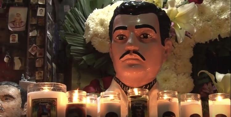 Jesús Malverde, el santo de los narcos, uno de los personajes emblemáticos de Culiacán (Foto: Especial)