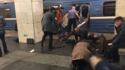 Rusia fue víctima de un ataque al metro de San Petersburgo el pasado mes de abril