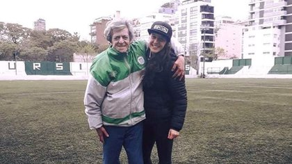 René Houseman y Carolina Teisseire se conocieron cuando ella jugaba en Excursionistas
