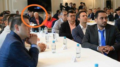 El alcalde de Popayán, Juan Carlos López, en la reunión que el presidente Iván Duque sostuvo en palacio con todos los alcaldes y gobernadores del país para evaluar las medidas a tomas por el coronavirus.