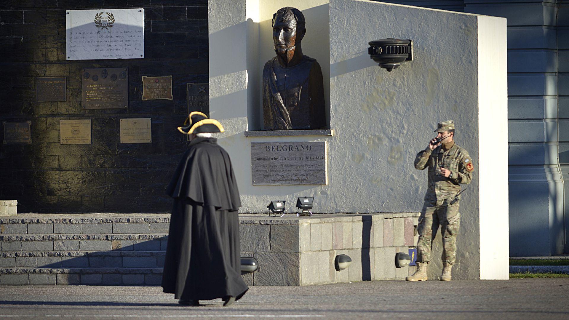 """Las instalaciones del Regimiento de Infantería 1 """"Patricios"""" son habitualmente espacio de actos recreativos históricos sobre hechos destacados de la historia argentina"""