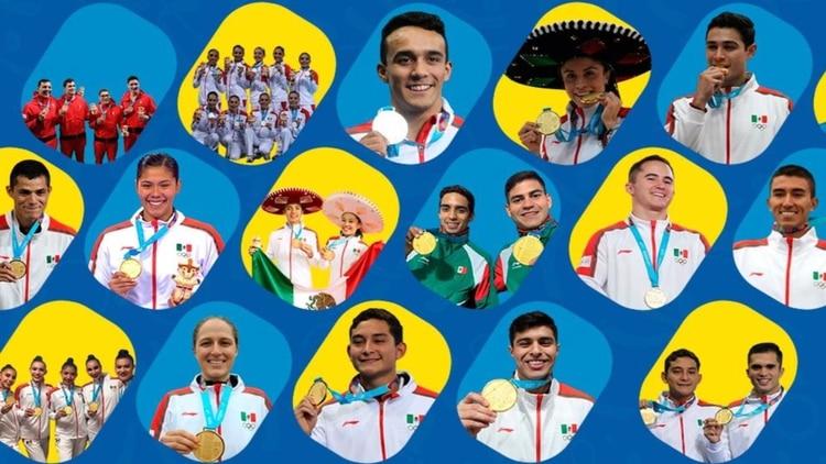 Entre medallas de oro, plata y bronce, los mexicanos acumularon 136 preseas, tres más que su mejor acumulado en la competición (Foto: Especial)