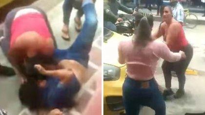 En video quedó la pelea a golpes de trabajadoras sexuales por el control de zona de tolerancia en Pitalito