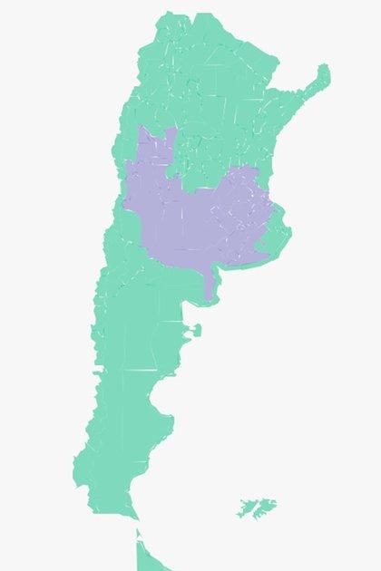 Advertencia violeta para la Ciudad y la Provincia de Buenos Aires, Córdoba, Entre Ríos, La Pampa, La Rioja, Mendoza, San Luis, San Juan y Santa Fe