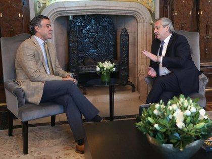 El juez Daniel Rafecas y el presidente Alberto Fernández