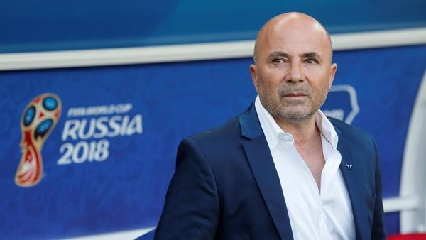 Jorge Sampaoli, en el Mundial; el último torneo que dirigió a Argentina (Foto: REUTERS/Maxim Shemetov)