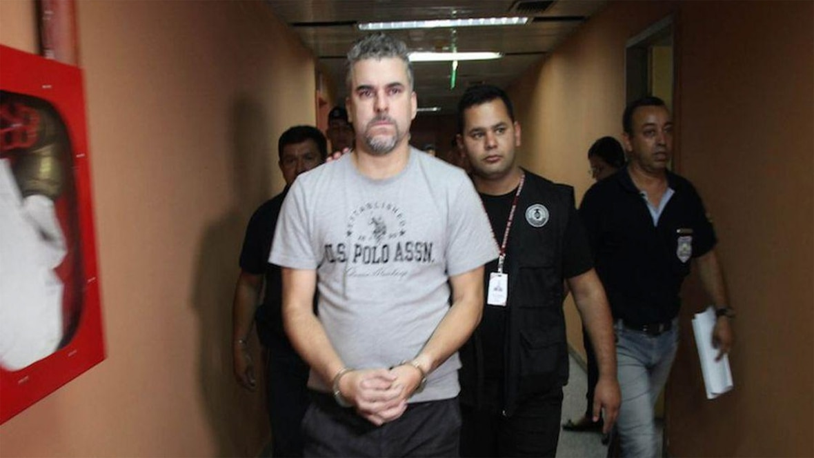 Marcelo Pinheiro Veiga, el líder narco del Comando Vermelho que mató a una chica en una cárcel paraguaya y fue extraditado a Brasil (Foto: Policía Nacional de Paraguay)