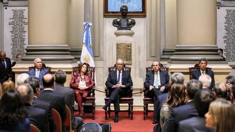 Ricardo Lorenzetti, Elena Highton de Nolasco, Carlos Rosenkrantz, Juan Carlos Maqueda y Horacio Rosatti