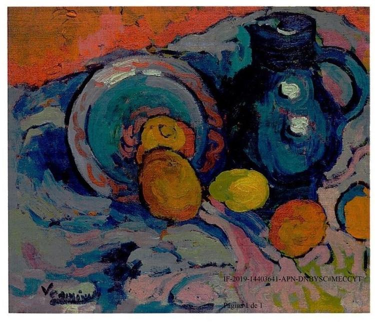 """Naturaleza muerta con jarra azul"", de Maurice De Vlaminck."