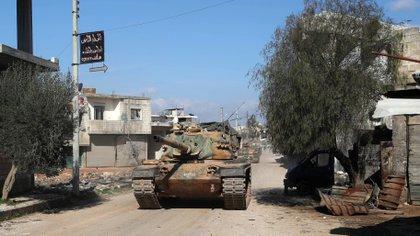 """Turquía advirtió que no dará """"un paso atrás"""" en la región siria de Idlib (Photo by Omar HAJ KADOUR / AFP)"""