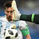 Argentina's forward Lionel Messi competes for the ball during the Russia 2018 World Cup Group D football match between Nigeria and Argentina at the Saint Petersburg Stadium in Saint Petersburg on June 26, 2018. / AFP PHOTO / GABRIEL BOUYS / RESTRICTED TO EDITORIAL USE - NO MOBILE PUSH ALERTS/DOWNLOADS