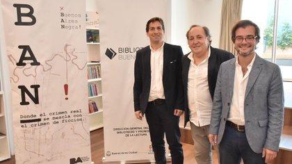 Ernesto Mallo, director del BAN, junto a Javier Martínez y Enrique Avogadro, Ministro de Cultura de la Ciudad