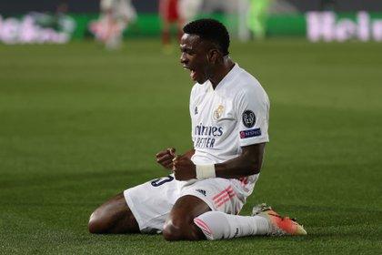 Vinicius Juniors sería uno de los jugadores que pasaría al PSG si se concreta el trueque por Mbappé (EFE)