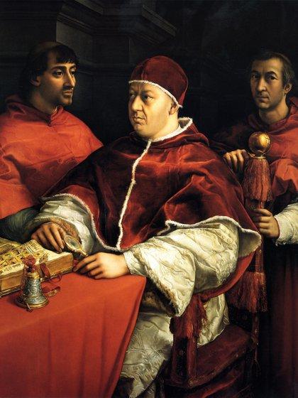 El papa León X, Giovanni di Lorenzo de Medici, era hijo de Lorenzo el Magnífico