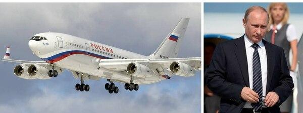 El Ilyushin Il-96-300PU del presidente ruso Vladimir Putin