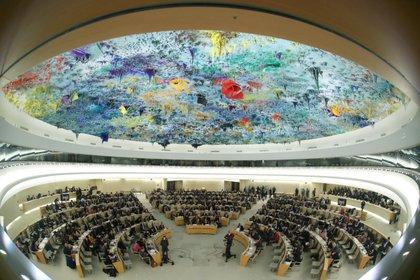 Sesión del Consejo de Derechos Humanos de la ONU, en Ginebra. Este año se realizó de forma virtual (Reuters/archivo)