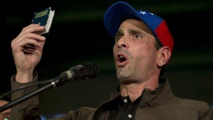 Henrique Capriles, que estuvo a punto de vencer a Maduro en 2013, es otro de los dirigentes opositores inhabilitados para participar de las elecciones