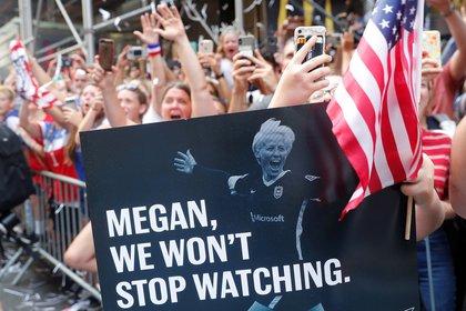 Un cartel para Megan Rapinoe (Reuters)