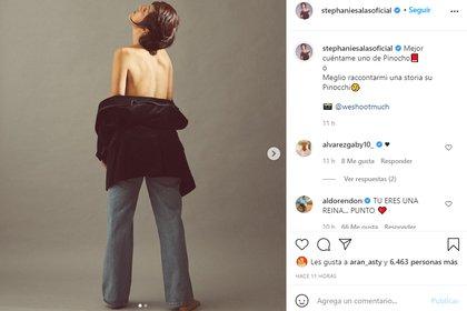 Stephanie Salas ya había hecho referencia a lo visto en la serie  (Foto: stephaniesalasoficial / Instagram)