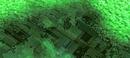 Imágenes de la estructura de las edificaciones capturadas por el sonar
