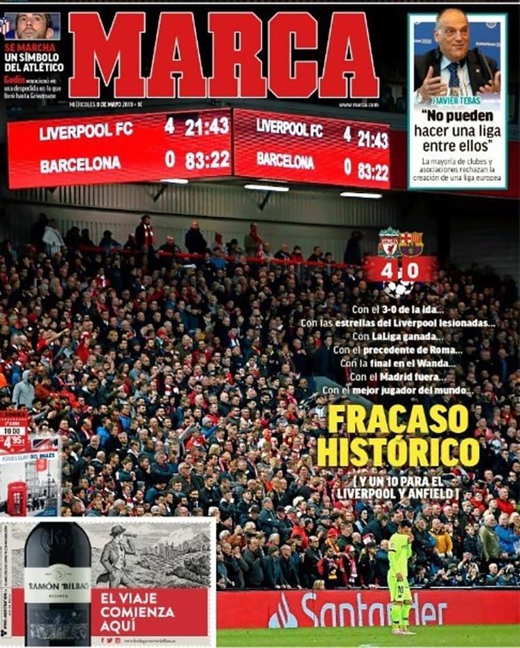 "Marca, España: ""Fracaso histórico"""