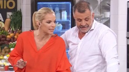 """Carina Zampini no estuvo de acuerdo con la opinión de Christian Petersen (Foto: """"El Gran Premio de la Cocina"""")"""