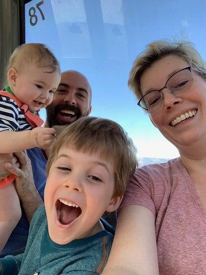 Selfie en familia