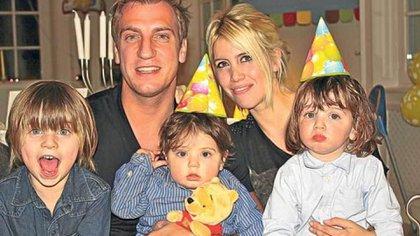 Maxi López, Wanda Nara y sus hijos